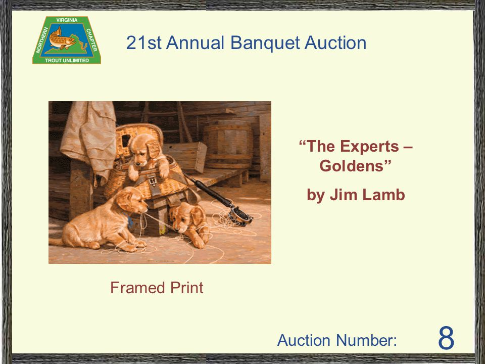 Auction Number: 21st Annual Banquet Auction 65 The Bachelor Party by Gary Moss Unframed Print