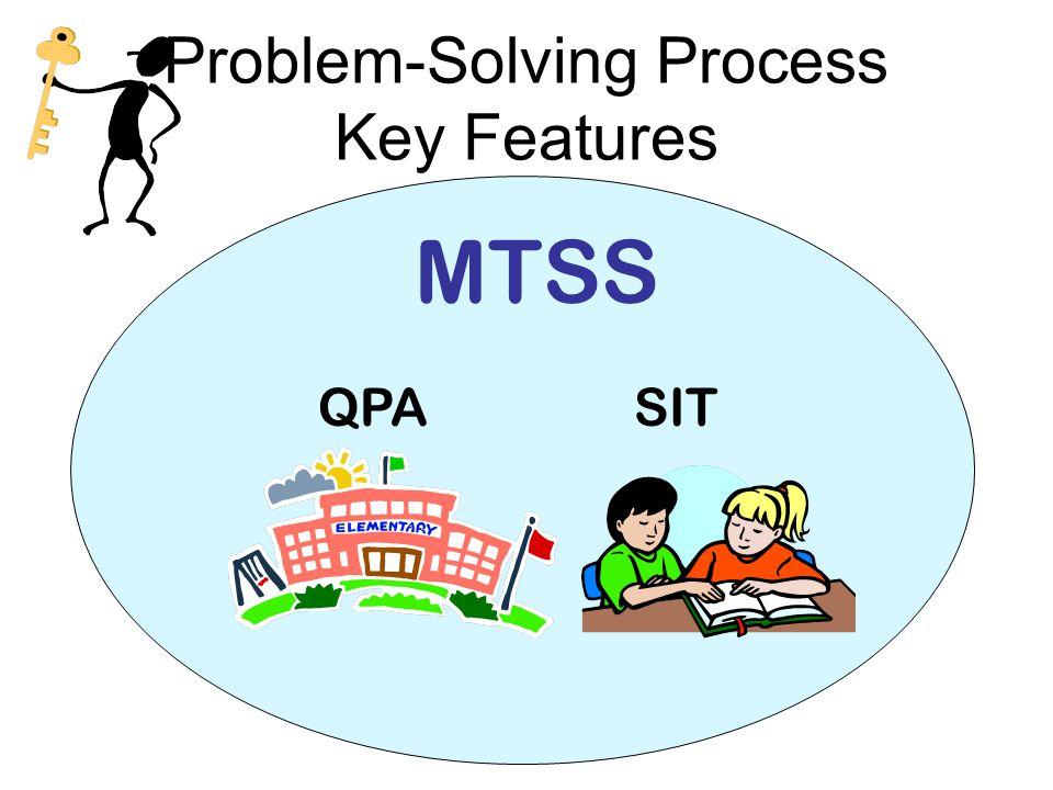 MTSS Problem-Solving Process Key Features QPASIT