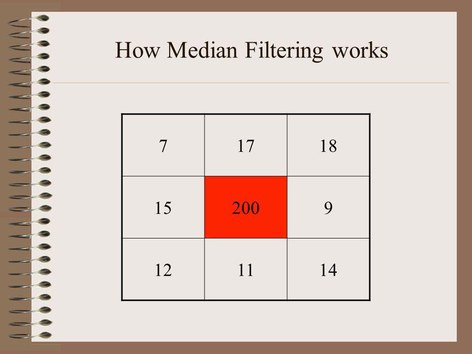 How Median Filtering works 71718 152009 121114