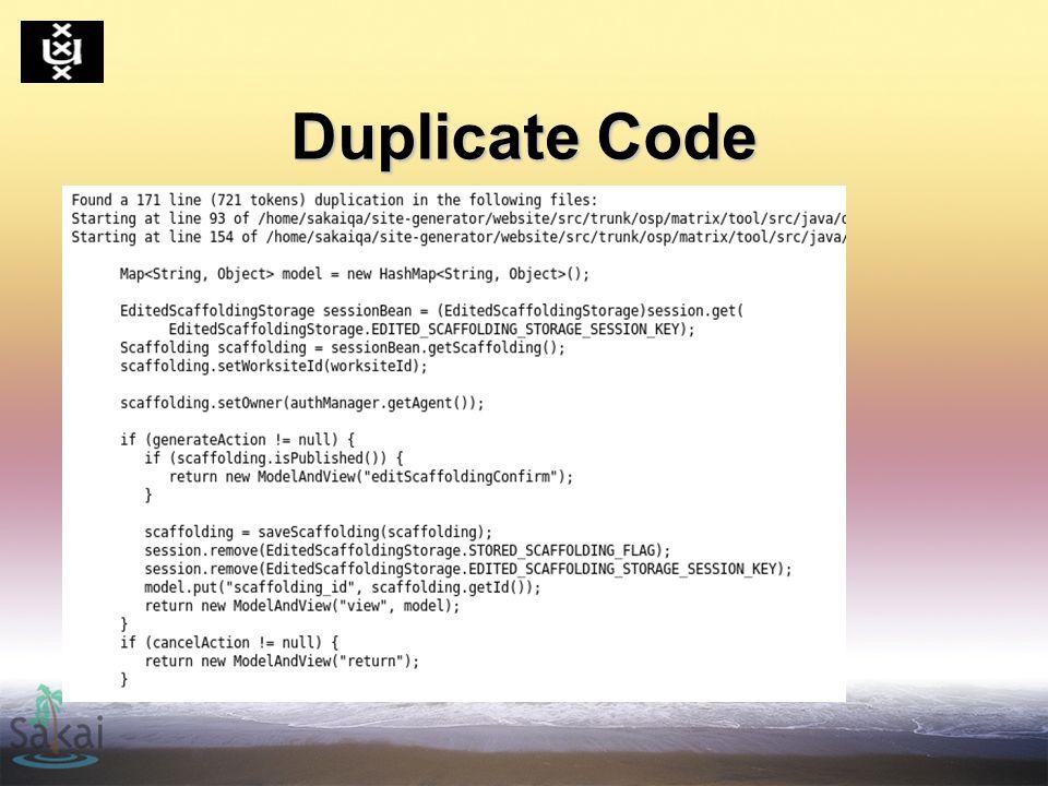Duplicate Code