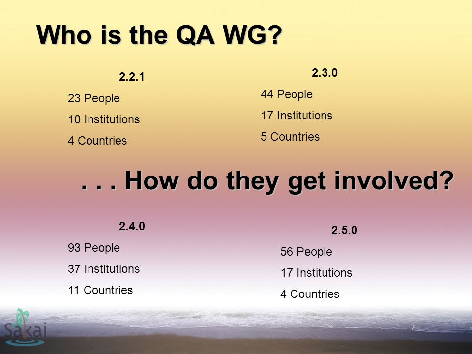 Who is the QA WG.
