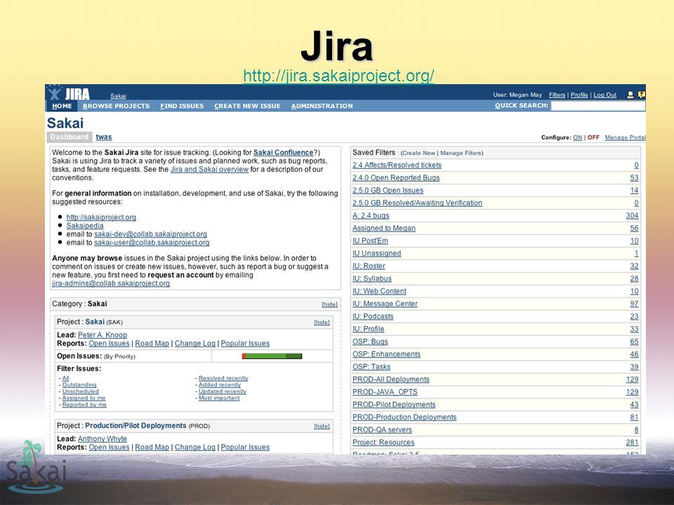 Jira http://jira.sakaiproject.org/