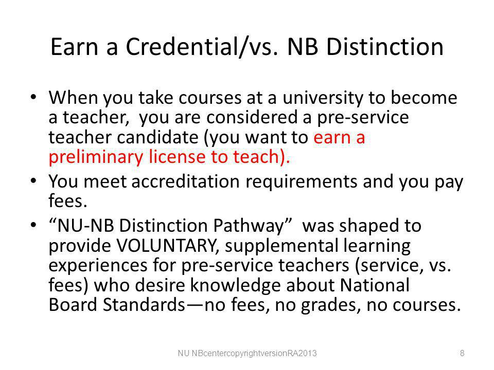 Earn a Credential/vs.