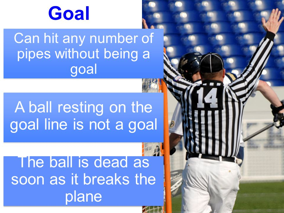 4 No goal After end of period After whistle Too many men on offense Offside on offense Early penalty release