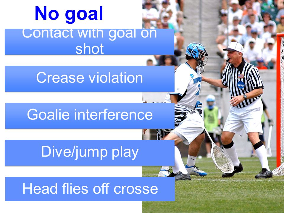 16 Illegal! Attack steps in crease GK in crease has possession