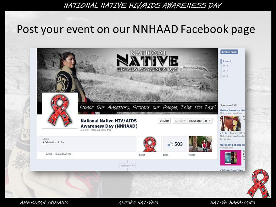 Post your event on our NNHAAD Facebook page