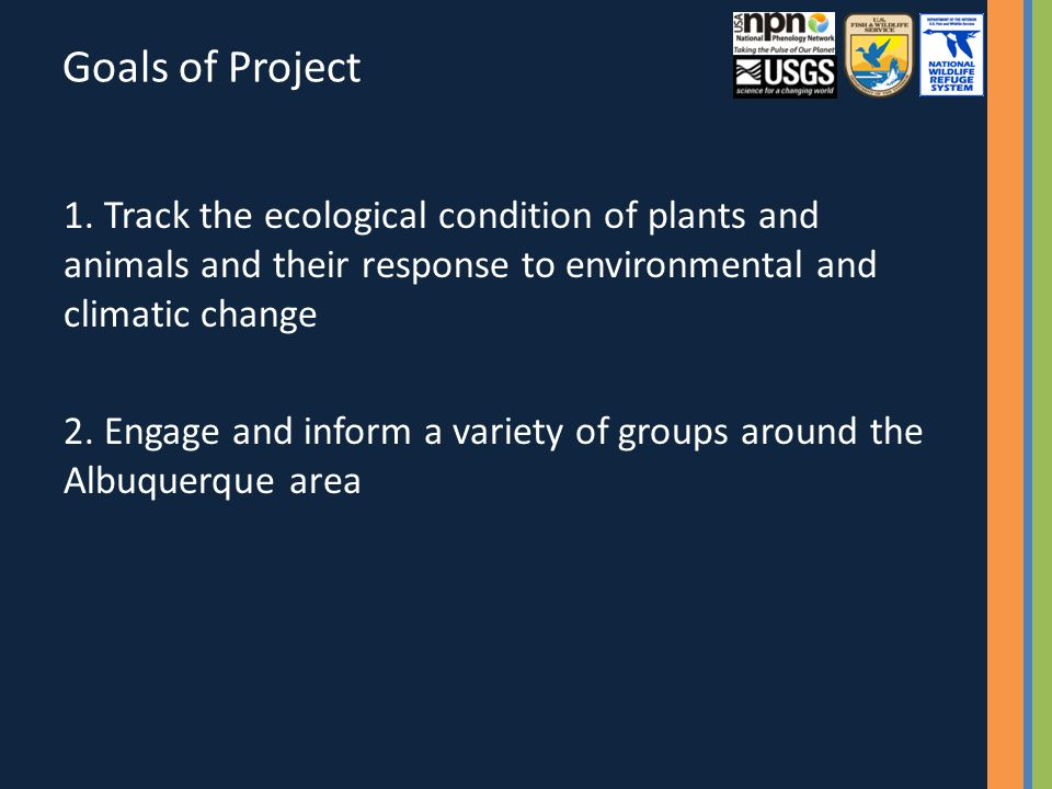 Goals of Project 1.