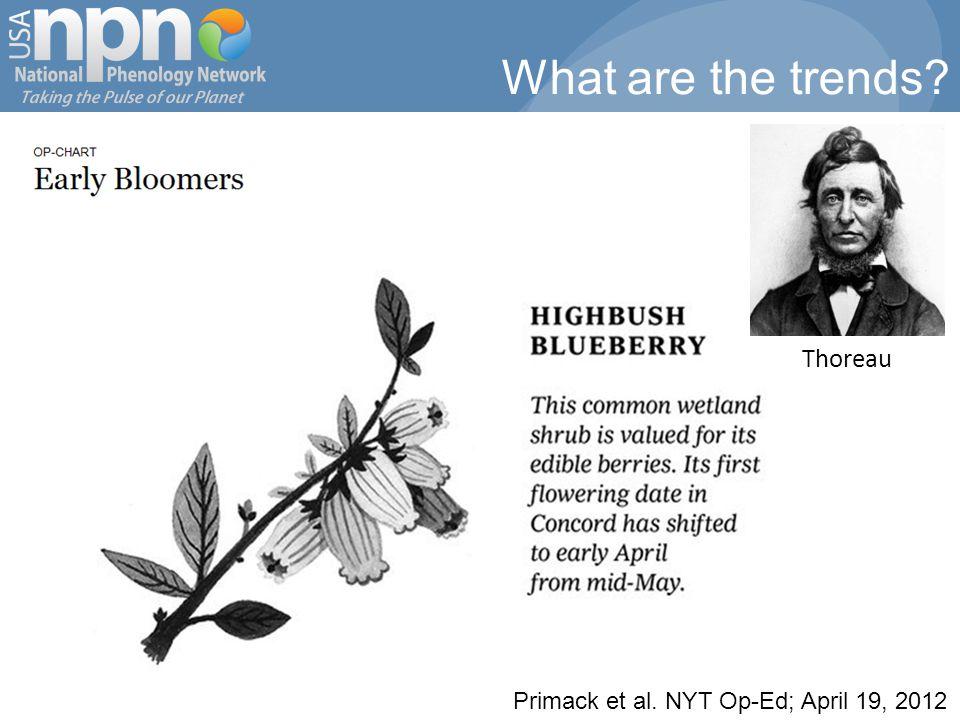 Primack et al. NYT Op-Ed; April 19, 2012 Thoreau