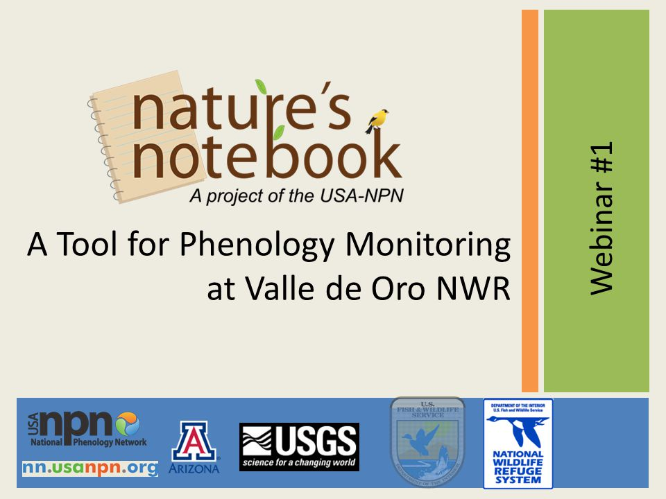 A Tool for Phenology Monitoring at Valle de Oro NWR Webinar #1