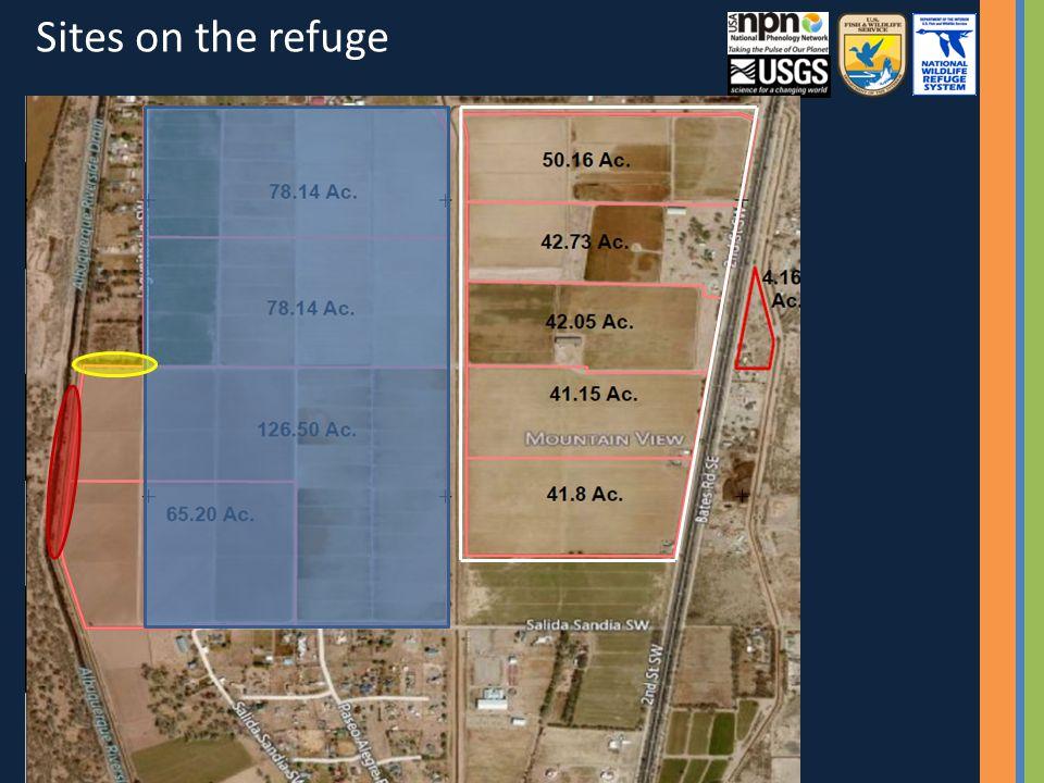 Sites on the refuge