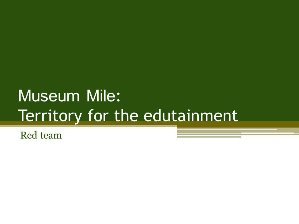 Museum Mile : Territory for the edutainment Red team