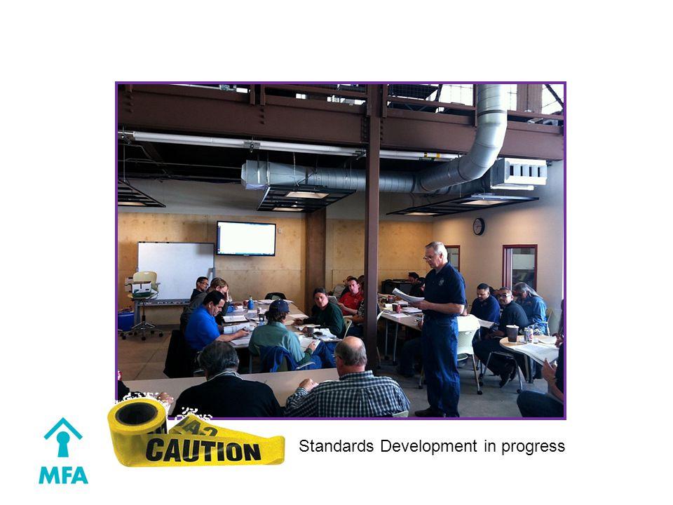 Standards Development in progress