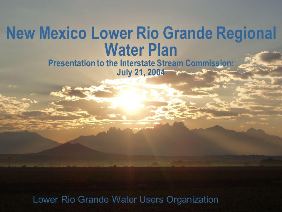 LRGWUO New Mexico Lower Rio Grande Regional Water Plan The New Mexico Lower Rio Grande Regional Water Plan was Prepared by: n Terracon n Livingston & Associates n John Shomaker & Associates n Zia Engineering & Environmental n Sites Southwest