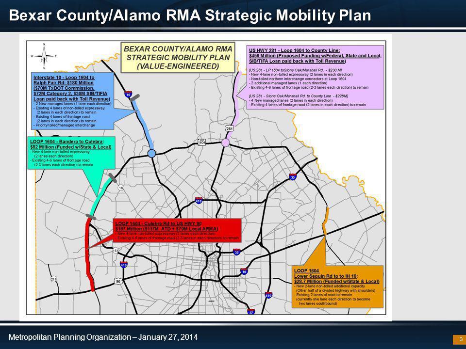 Metropolitan Planning Organization – January 27, 2014 281 87 Bexar County/Alamo RMA Strategic Mobility Plan 3