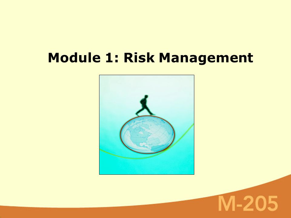 Module 1: Risk Management