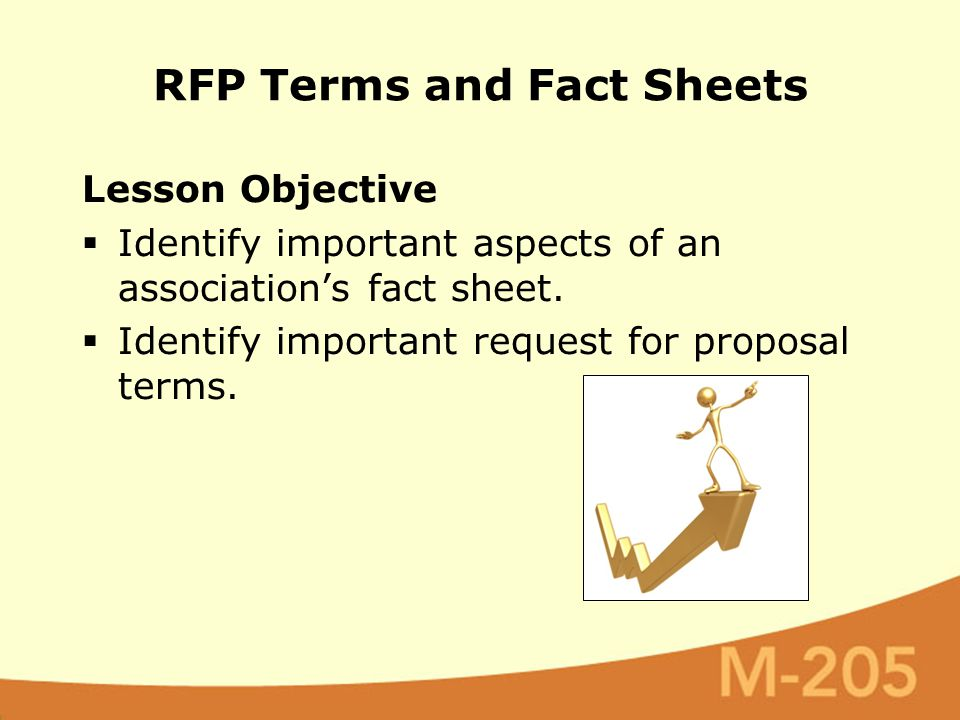 Lesson Objective  Identify important aspects of an association's fact sheet.