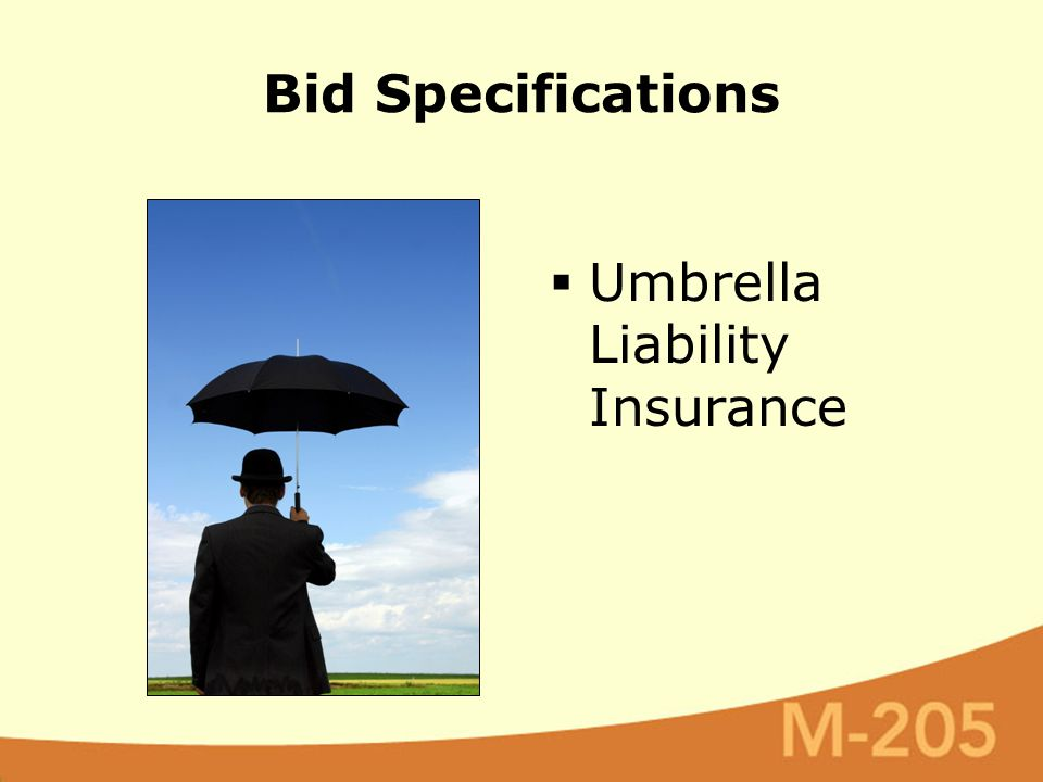 Bid Specifications  Umbrella Liability Insurance