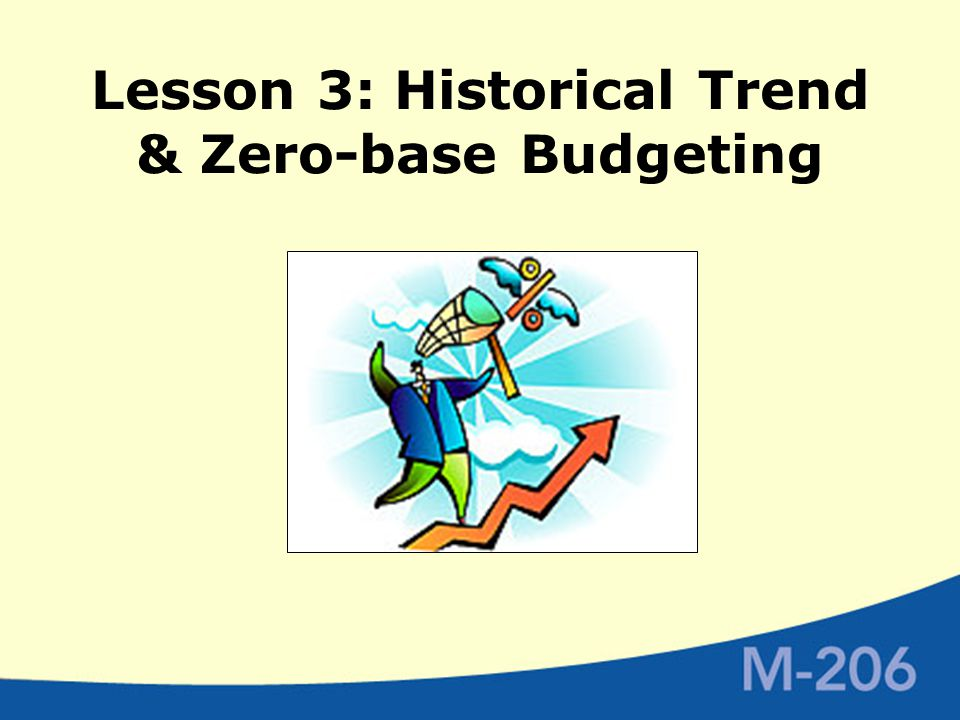 Lesson 3: Historical Trend & Zero-base Budgeting