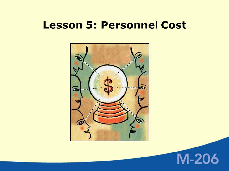 Lesson 5: Personnel Cost