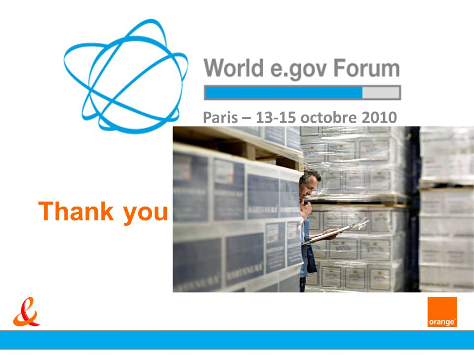 Thank you Paris – 13-15 octobre 2010