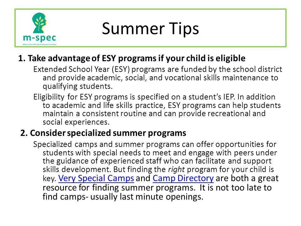 Summer Tips 1.