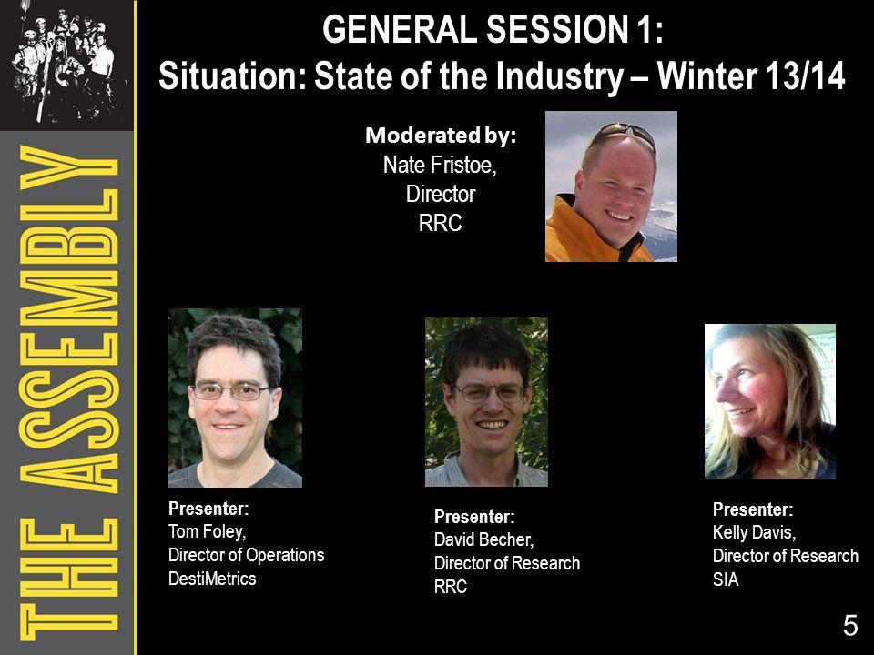 Moderated by: Nate Fristoe, Director RRC 5 Presenter: Tom Foley, Director of Operations DestiMetrics Presenter: David Becher, Director of Research RRC