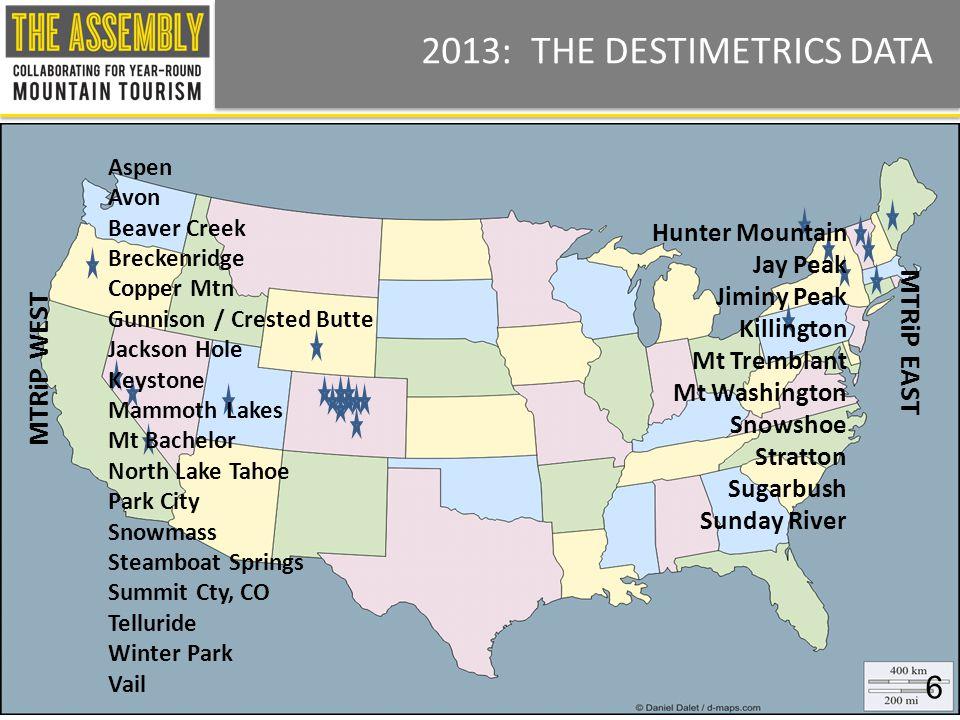 Made possible by DestiMetrics LLC Property of DestiMetrics LLC dba The ASSEMBLY - All Rights Reserved - 303.731.2268 – theassembly.destimetrics.com - assembly@destimetrics.com 7 2013: ECONOMIC ENVIRONMENT Dow Jones Confidence Unemployment