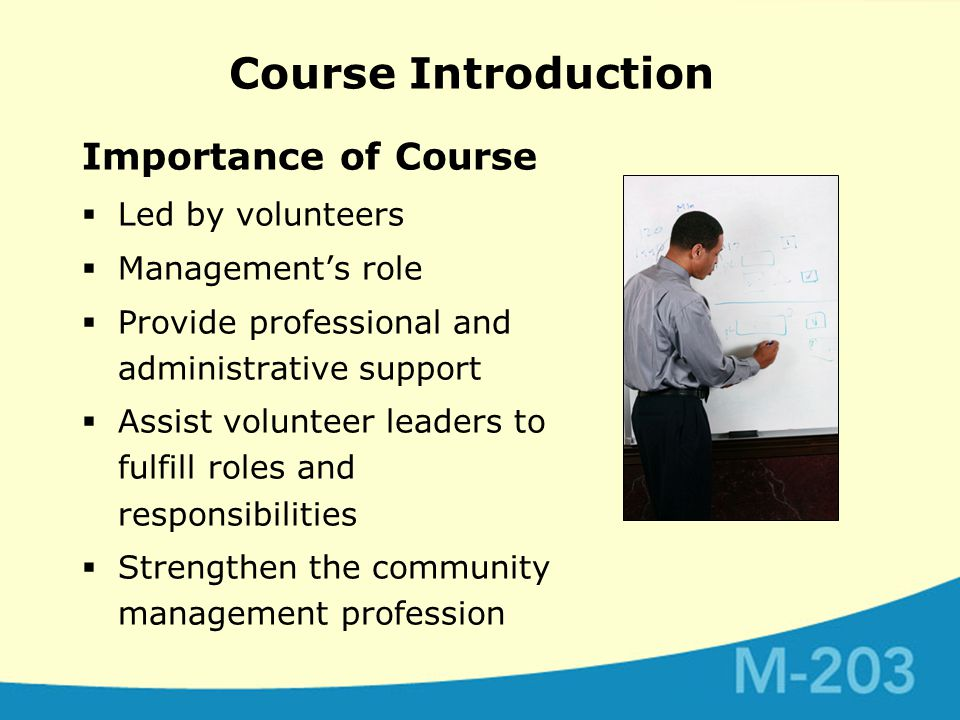 Course Introduction Additional Readings  M-100 Excerpts – Chapter 1-3  M-202, Module 4  Access these and others resources on the CAI website and the M-203 CD-ROM