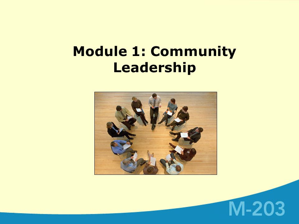Module 1: Community Leadership