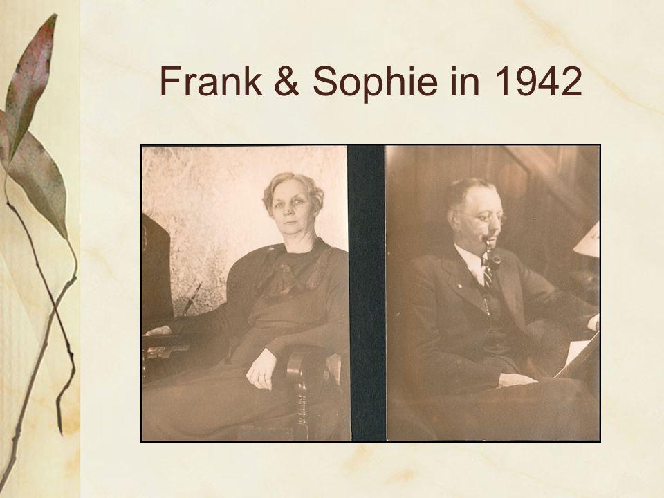 Frank & Sophie in 1942