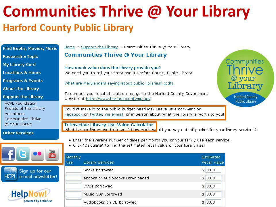 Communities Thrive @ Your Library Harford County Public Library