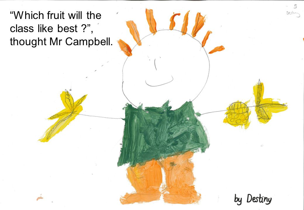 """Which fruit will the class like best ?"", thought Mr Campbell."