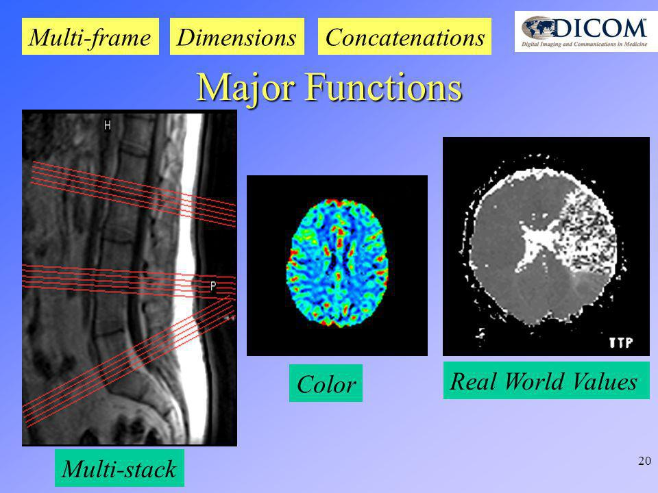 20 Multi-stack Color DimensionsMulti-frame Major Functions Real World Values Concatenations