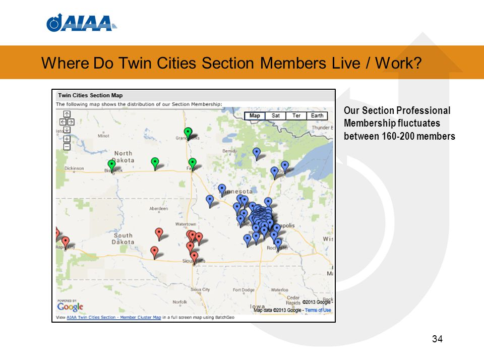Where Do Twin Cities Section Members Live / Work.