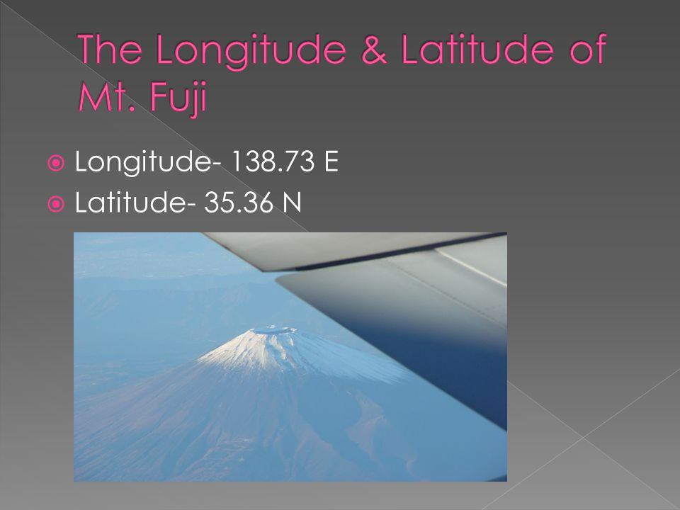  Longitude- 138.73 E  Latitude- 35.36 N