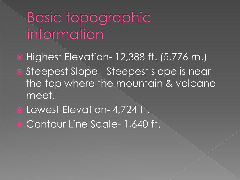  Highest Elevation- 12,388 ft.