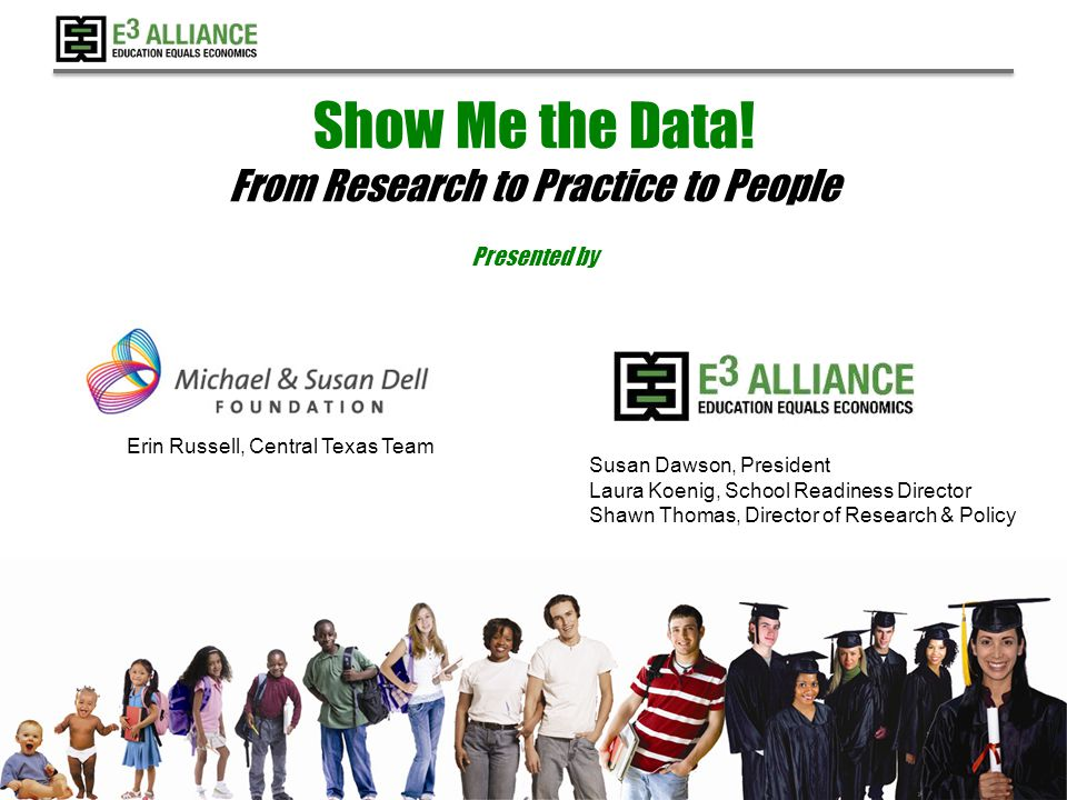 © 2014 E 3 Alliance Connectivity Between Systems Providing professional development for HS and college counselors in access and persistence targeted at groups of need Leveraging research, aligning policies and practices to put many more students on Pathways of Promise Implementing near to peer mentoring by students who have successfully navigated the 2- 4 year transfer process 72