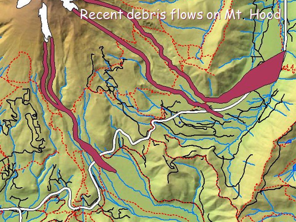 Recent debris flows on Mt. Hood Recent debris flows on Mt. Hood