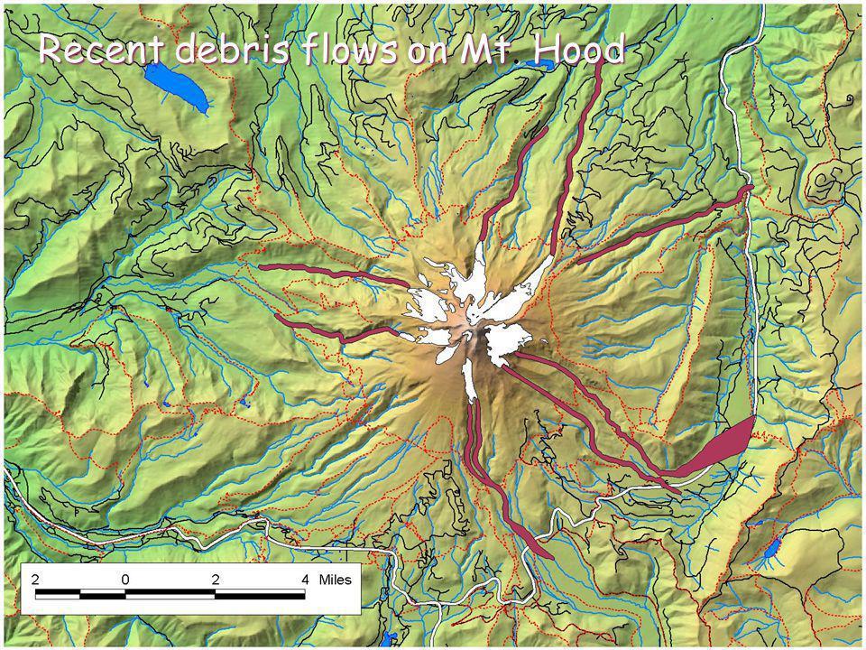 Recent debris flows on Mt. Hood