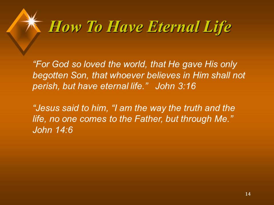 13 How To Have Eternal Life What was our status when God demonstrated His love to us.