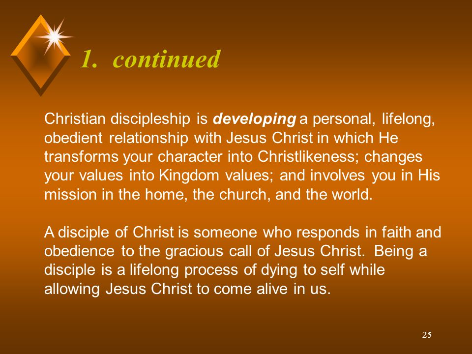 24 1.What is Christian Discipleship.