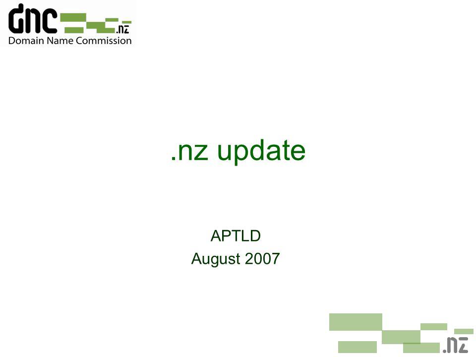 .nz update APTLD August 2007