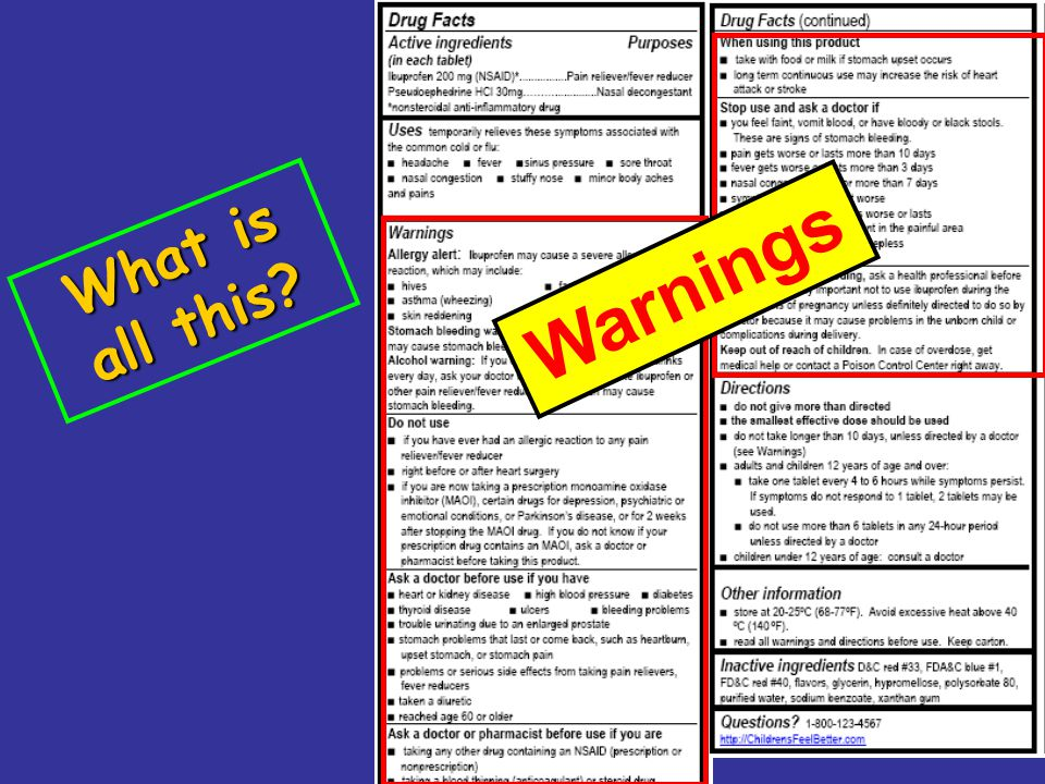 16 What is all this? Warnings