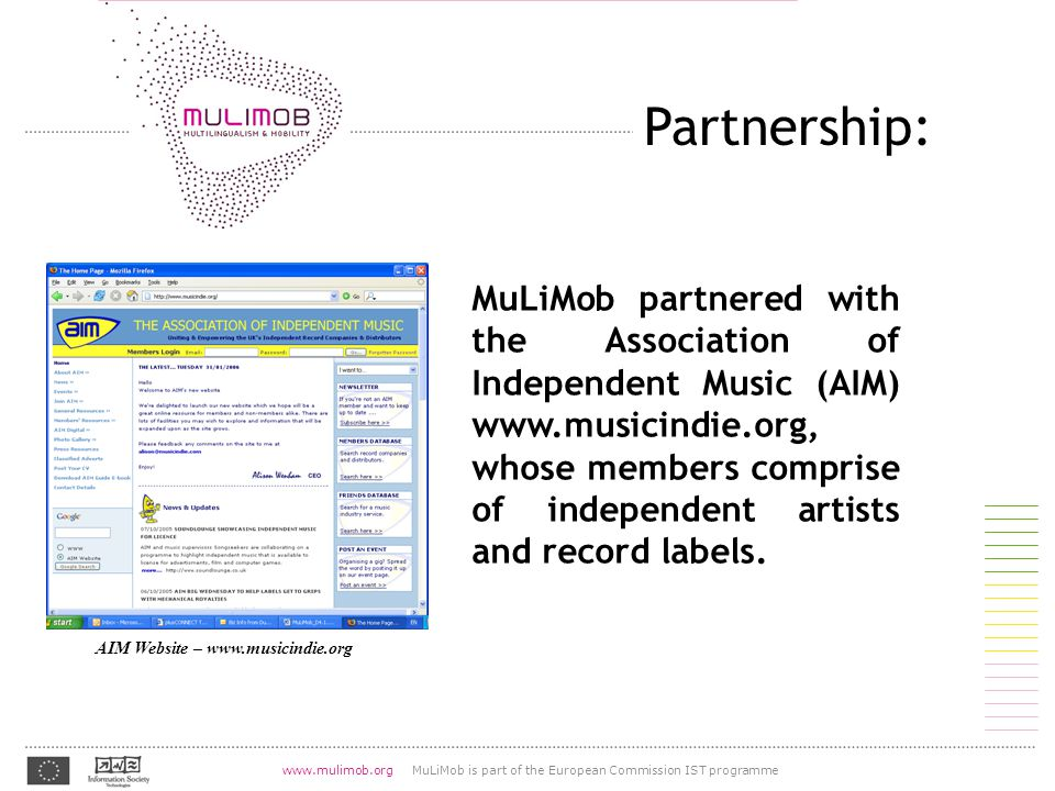 07.08.2004 www.mulimob.org MuLiMob is part of the European Commission IST programme http://lingvo.org/fr/4/1055 Proceedings: