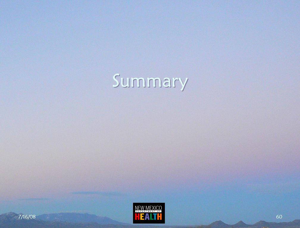7/16/08 60 Summary