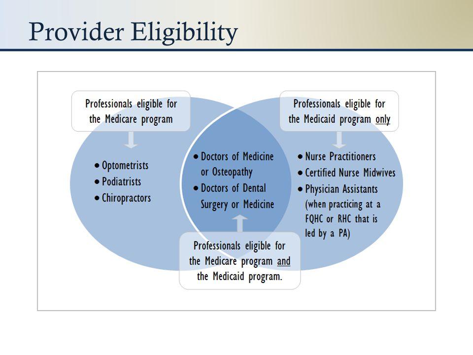 Provider Eligibility