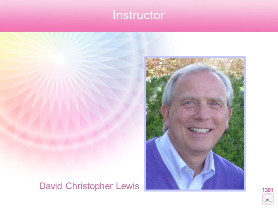 Instructor David Christopher Lewis