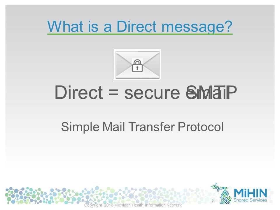 Direct messaging nationwide MI in pilot '13