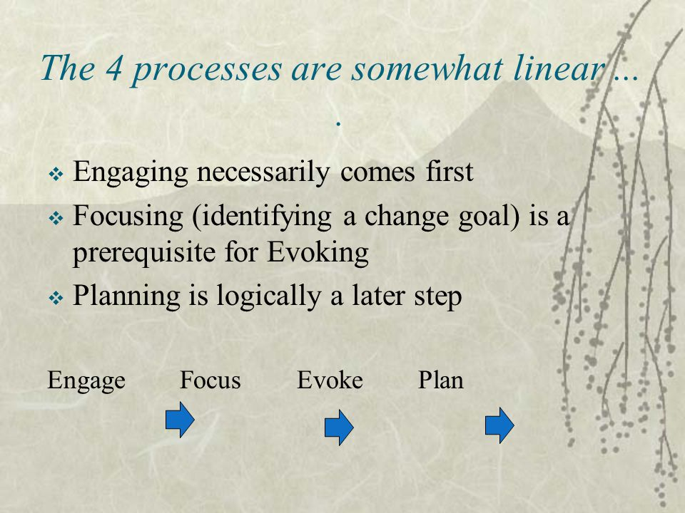 The 4 processes are somewhat linear....