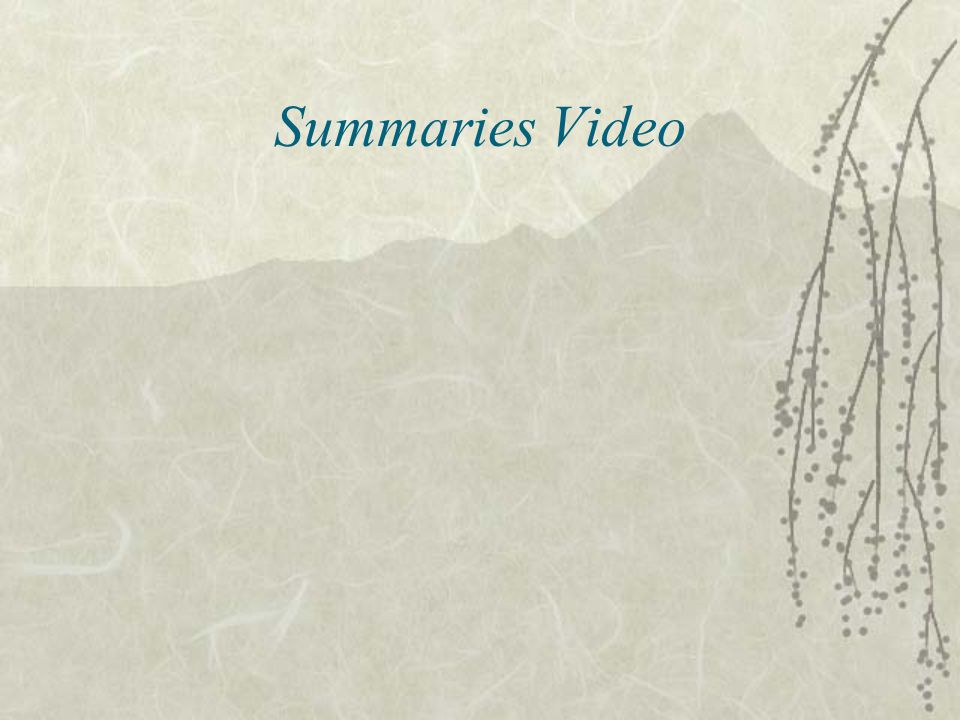 Summaries Video